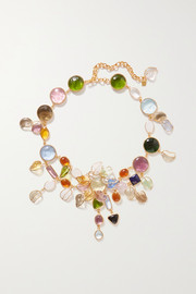 Loulou de la Falaise Garden gold-plated glass necklace
