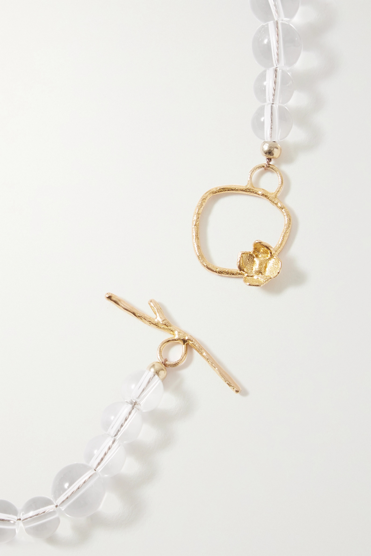 Anita Berisha Petite Bubble gold-tone, glass and quartz necklace
