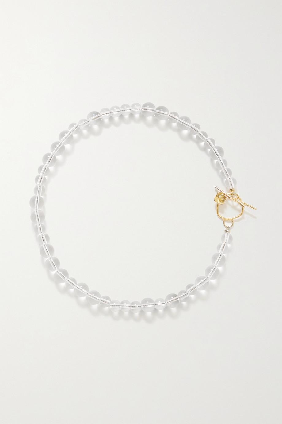 Anita Berisha Petite Bubble Kette aus Glas mit Quarzen und goldfarbenen Details