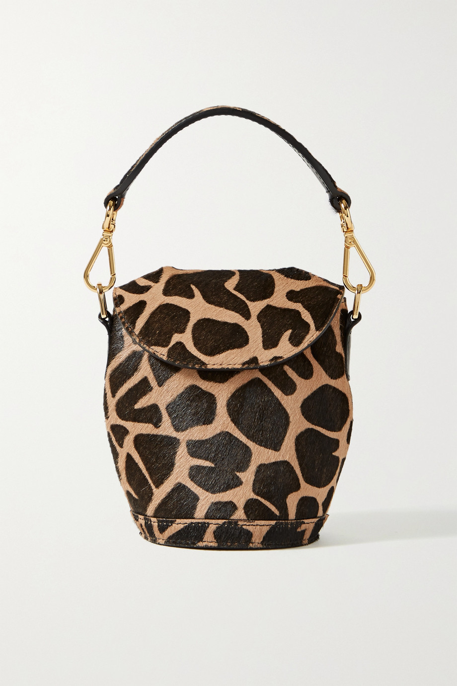 S.Joon Milk Pail mini animal-print calf hair tote