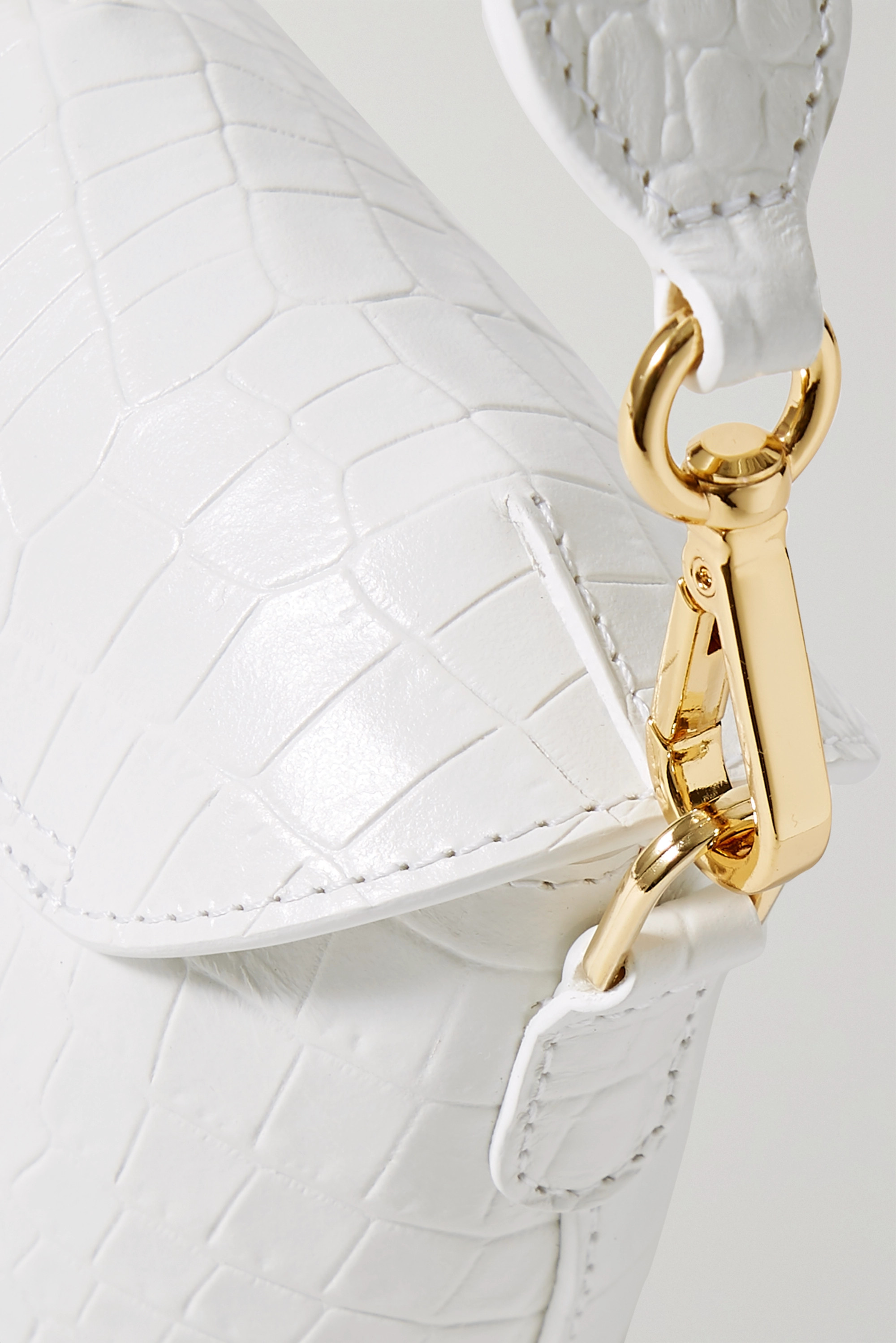 S.Joon Milk Pail mini croc-effect leather tote