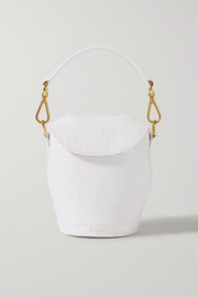 S.Joon Milk Pail mini croc-effect leather tote