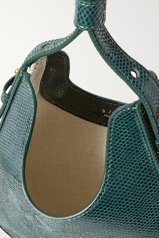 S.Joon Teardrop lizard-effect leather tote