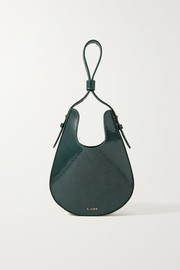 S.Joon Teardrop lizard-effect leather tote