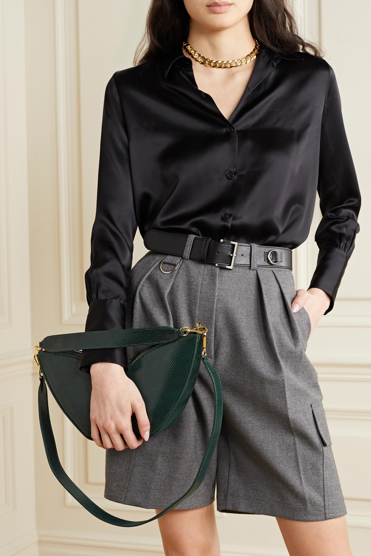 S.Joon Tulip lizard-effect leather shoulder bag