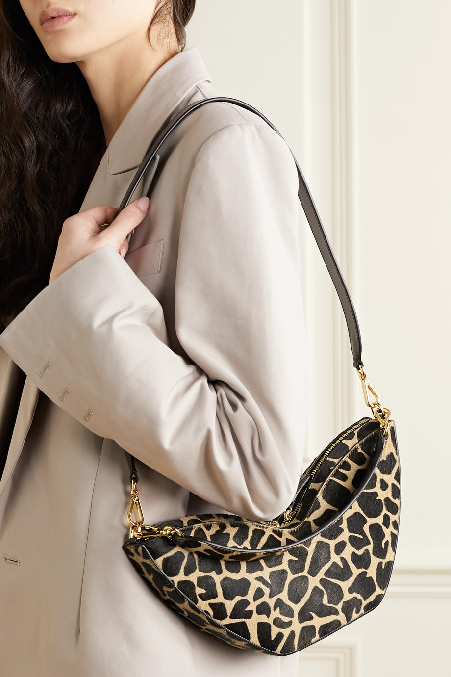 S.Joon Tulip printed calf hair shoulder bag