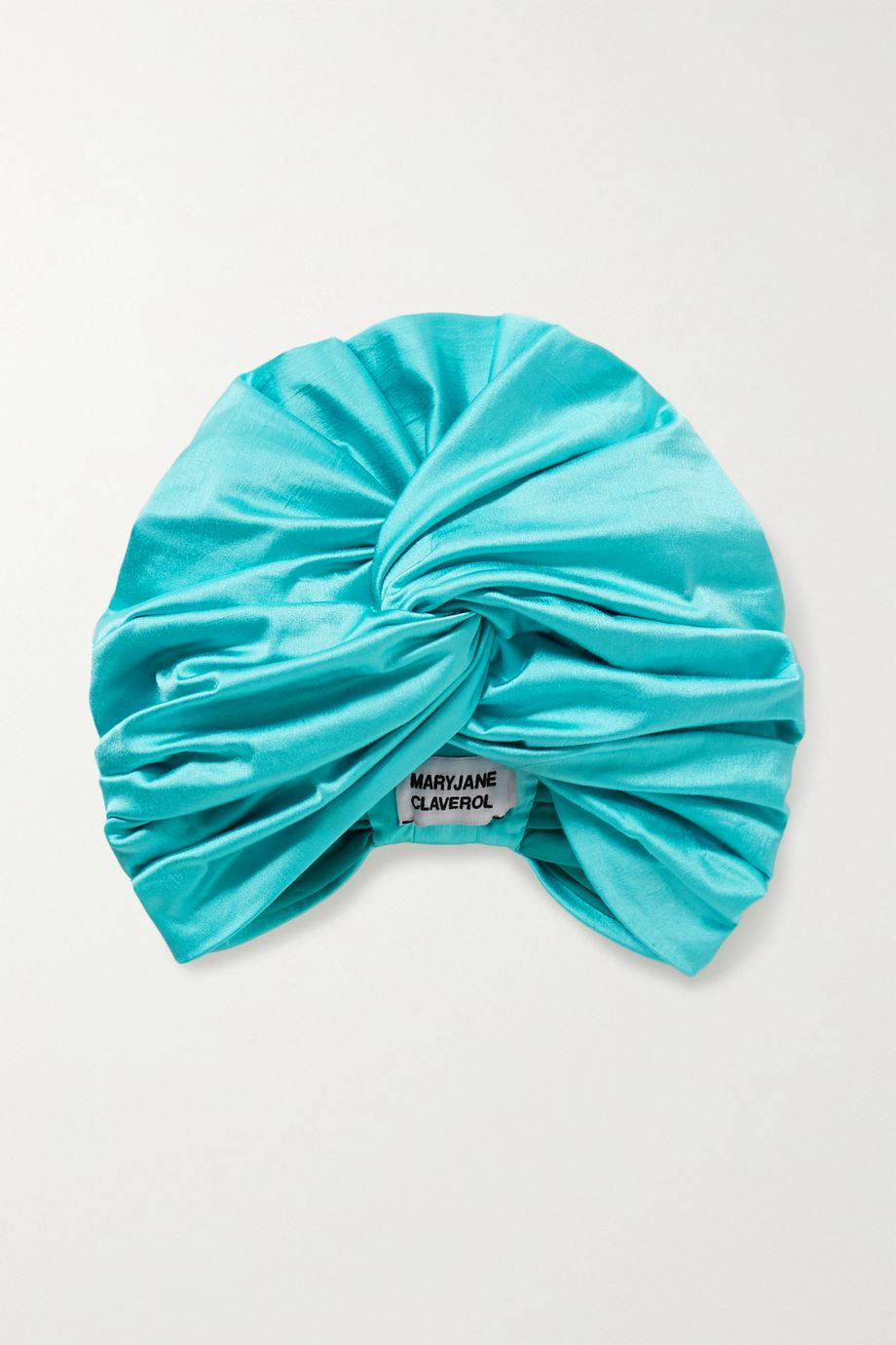 MaryJane Claverol Maggie stretch-satin turban