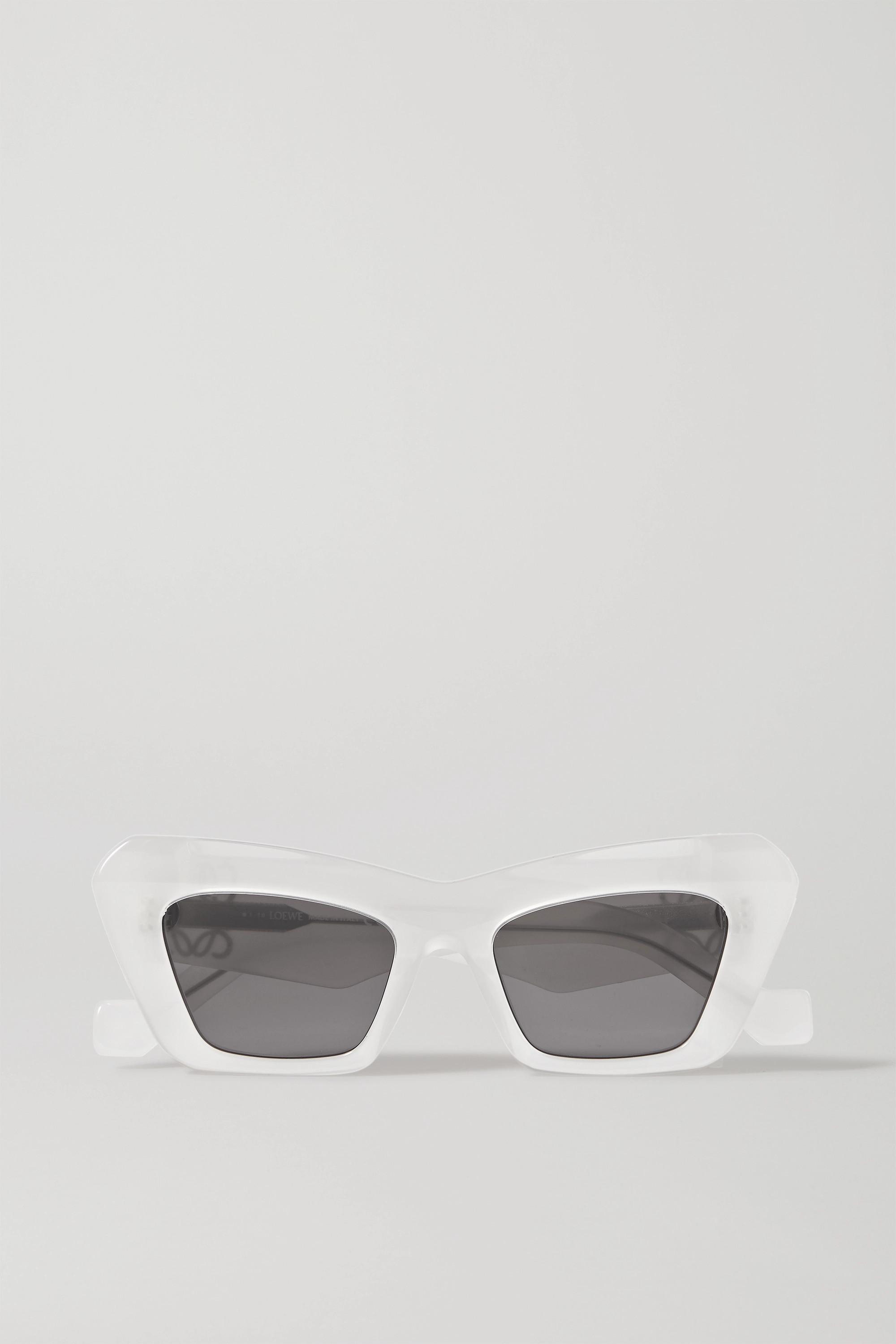 Loewe Lunettes de soleil œil-de-chat oversize en acétate