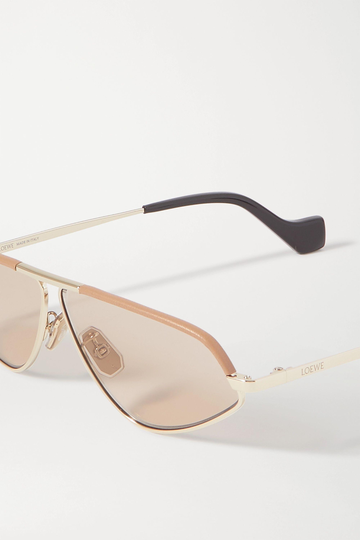 Loewe Cat-eye gold-tone and acetate sunglasses
