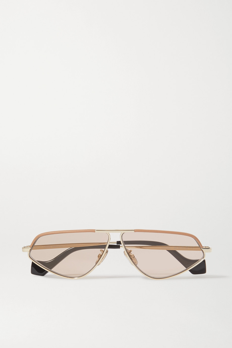 Loewe Cat-eye gold-tone and acetate sunglasses
