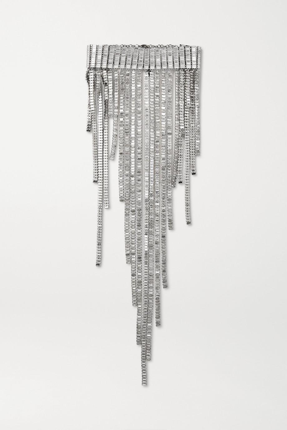 Rosantica Barlume silver-tone crystal choker