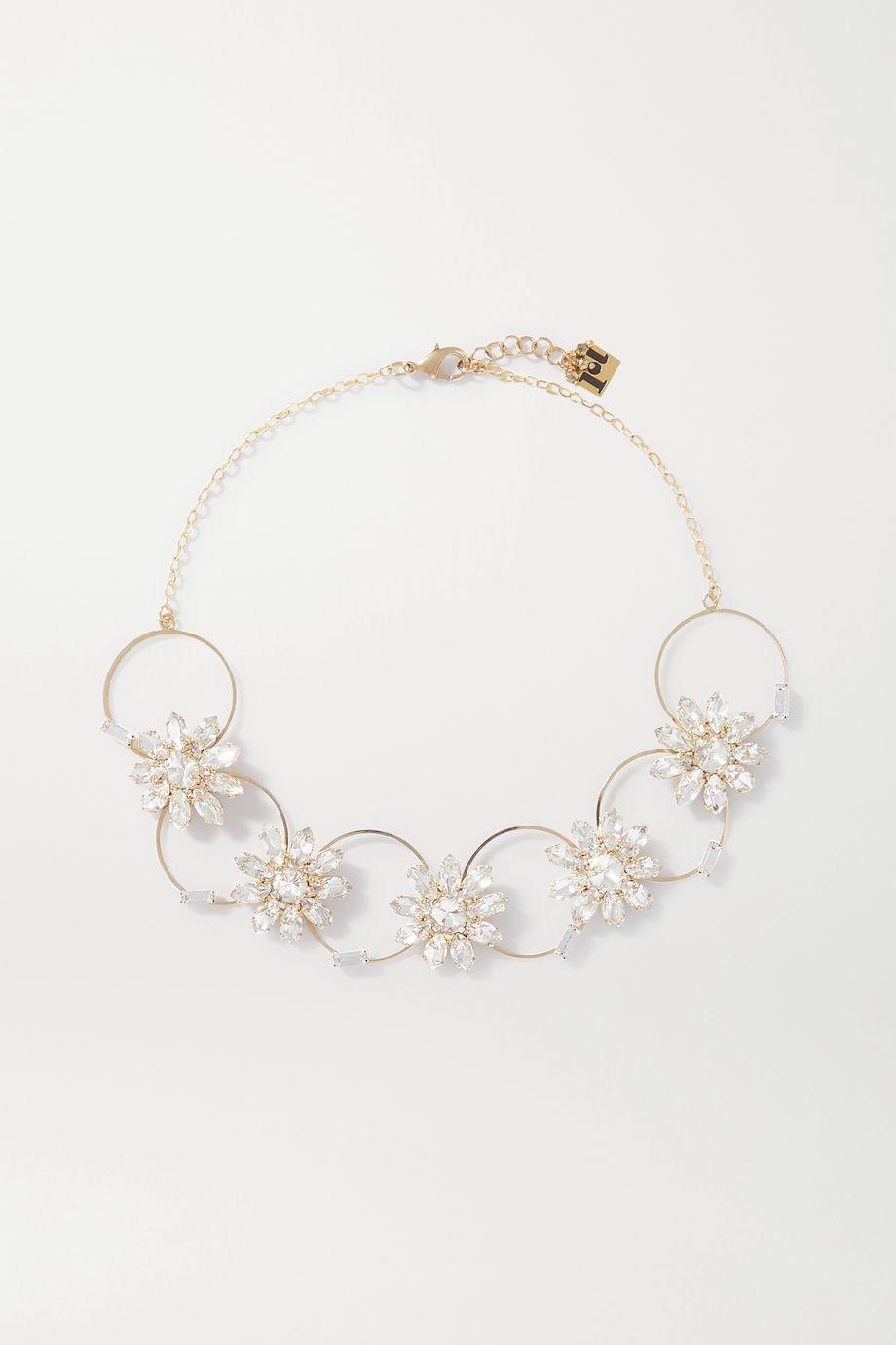 Rosantica Utopia gold-tone crystal necklace