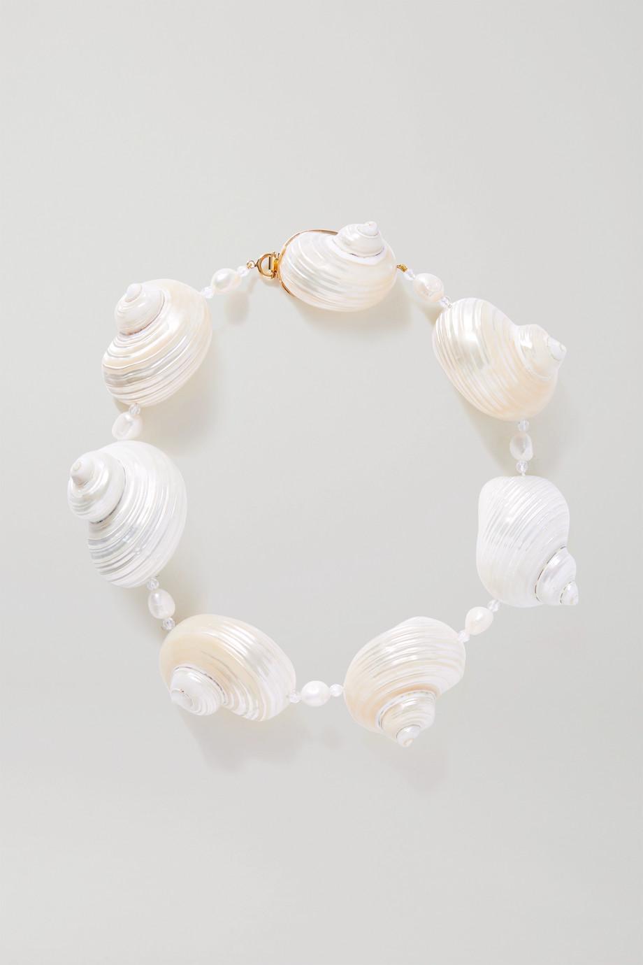 Prada Gold vermeil multi-stone necklace