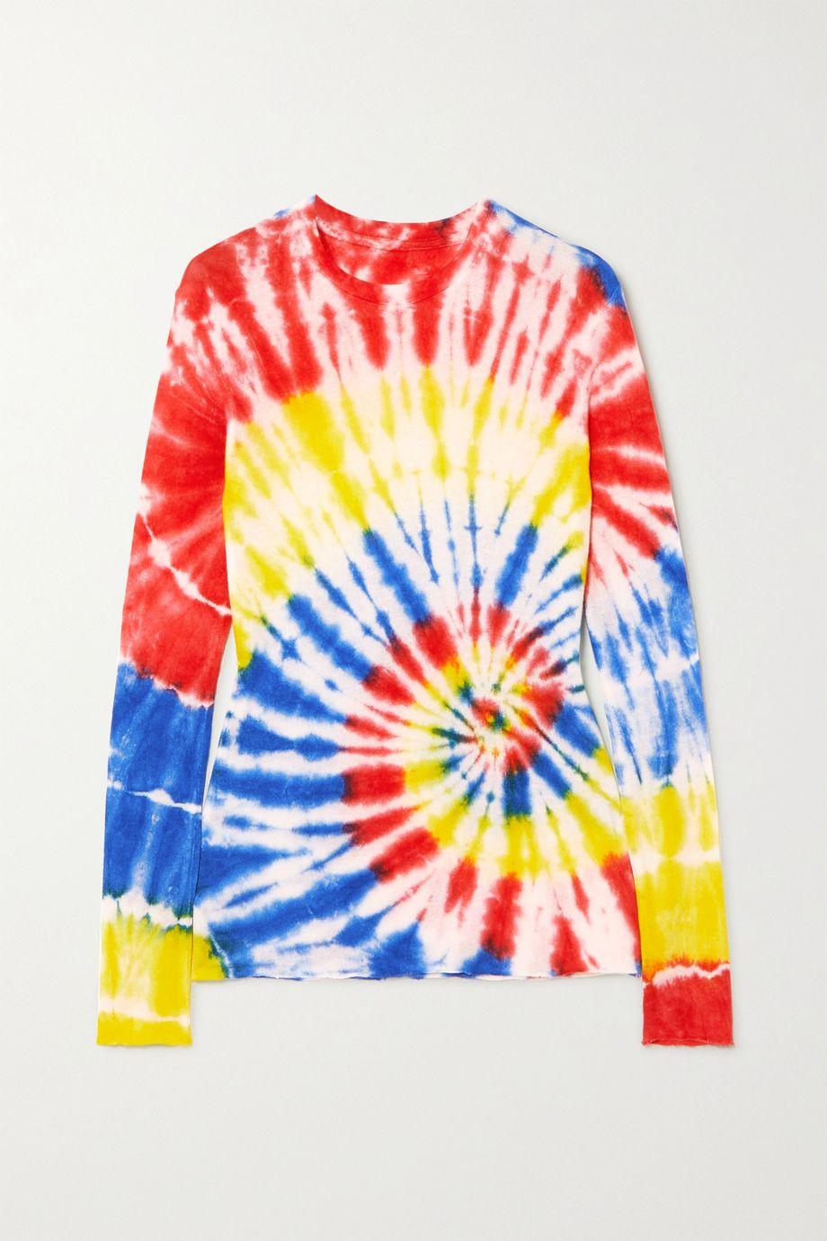 The Elder Statesman Tie-dyed cashmere and silk-blend top