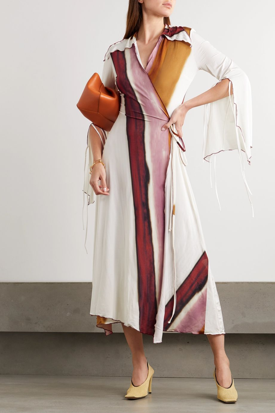 Ellery Epicurus printed stretch-jersey wrap dress