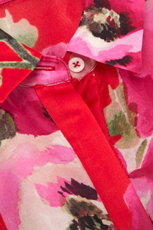 Carolina Herrera Belted floral-print silk-organza gown