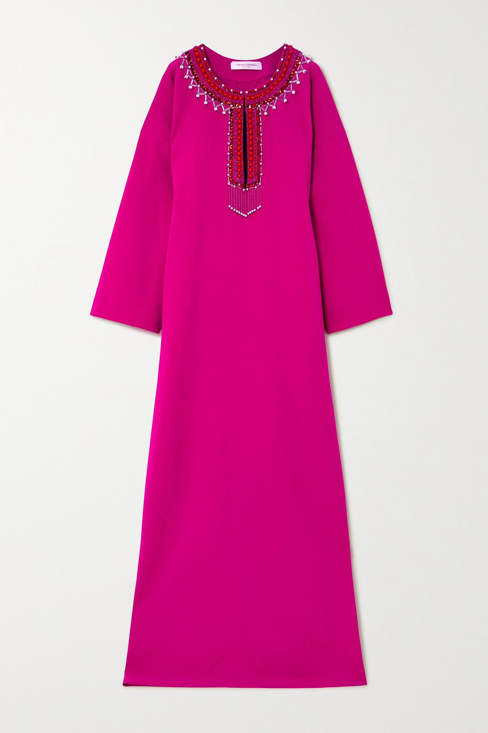 Carolina Herrera Oversized embellished crepe gown