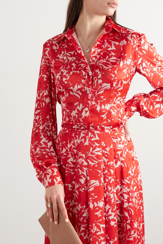 Carolina Herrera Floral-print satin blouse