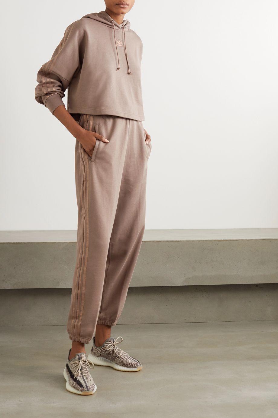adidas Originals Pantalon de survêtement en molleton de coton à rayures métallisées