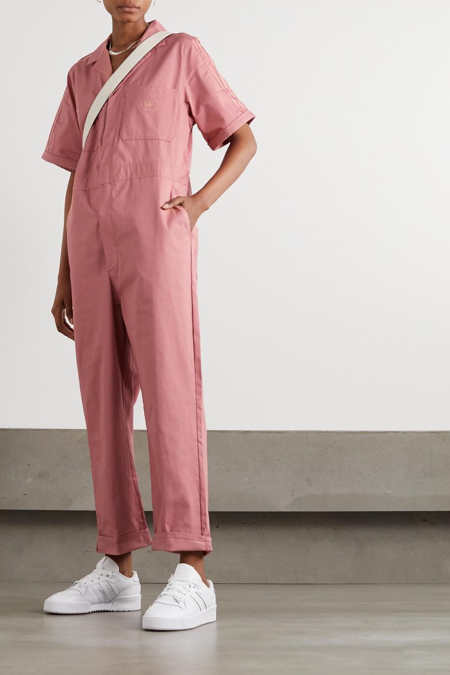 adidas Originals Jumpsuit aus Baumwoll-Twill mit Streifen