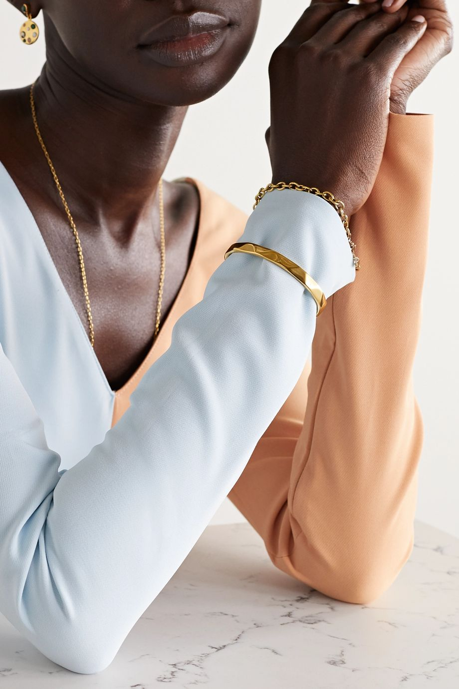 Rasa x Anna Beck Gold-plated cuff