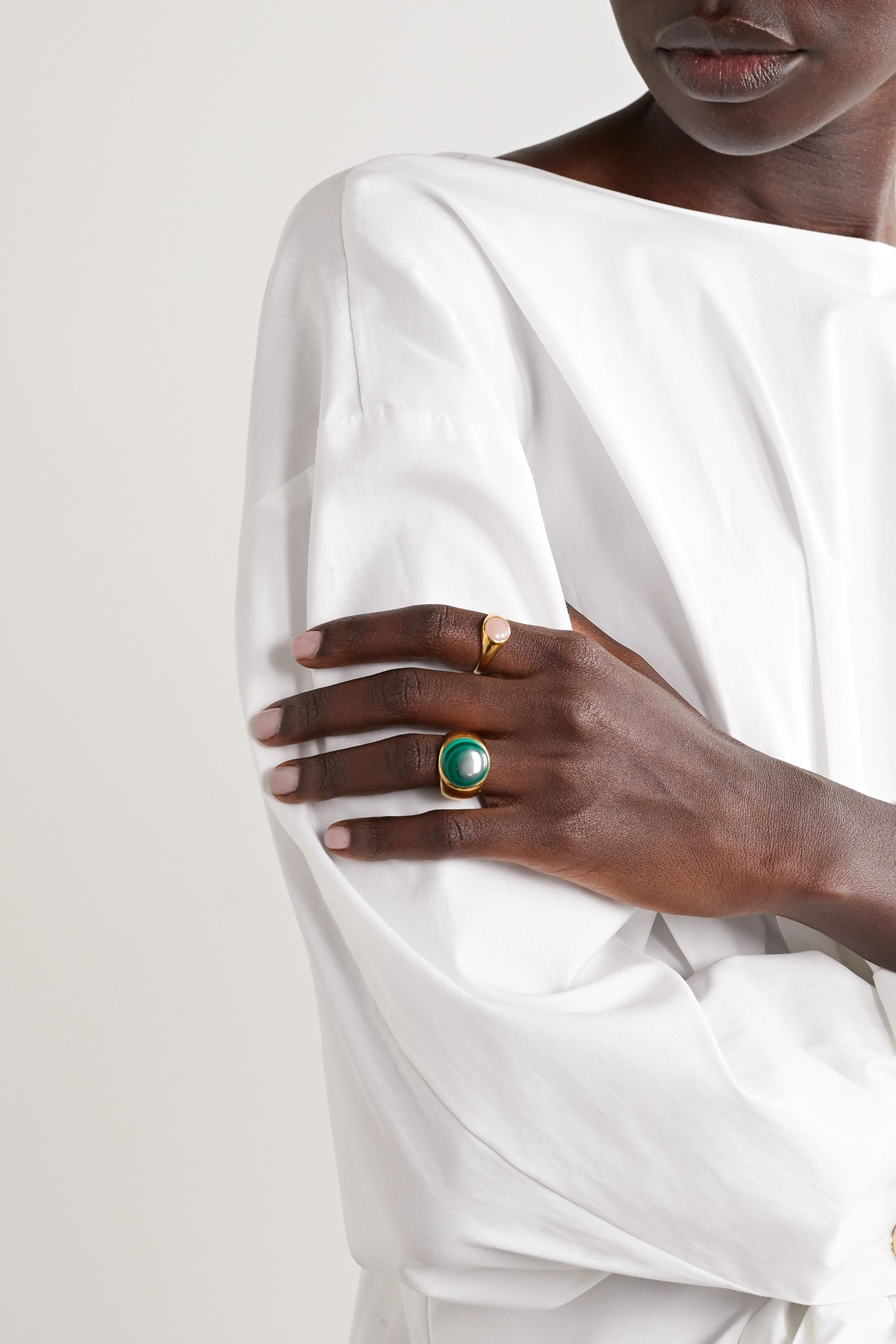 Rasa x Anna Beck Gold-plated quartz ring