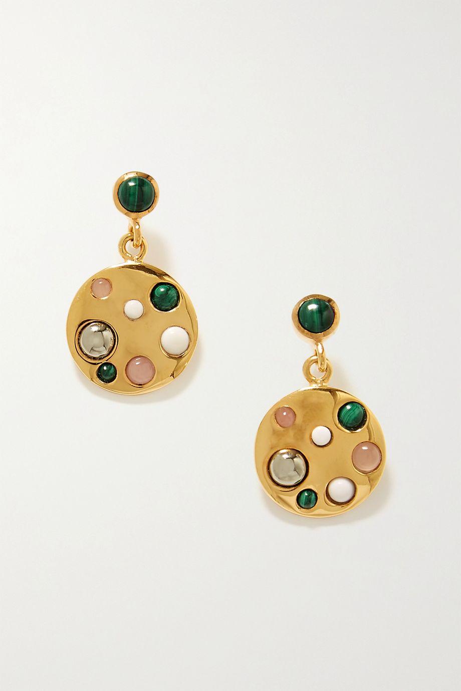 Rasa x Anna Beck Gold-plated multi-stone earrings