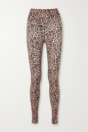 Beach Riot Piper leopard-print stretch-jersey leggings