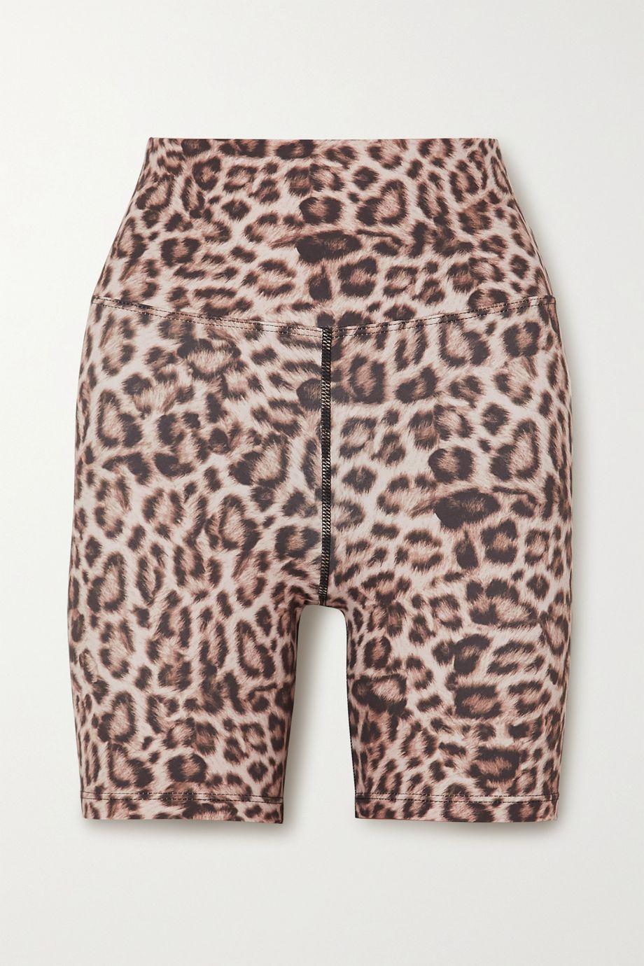 Beach Riot Biker leopard-print stretch-jersey shorts
