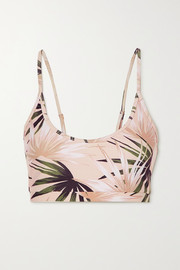 Beach Riot Liz printed stretch sports bra