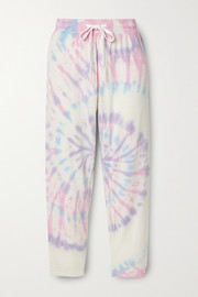 Splits59 Reena cropped tie-dyed stretch-modal track pants