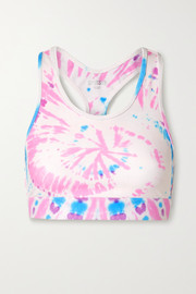 Splits59 Geri tie-dyed stretch sports bra