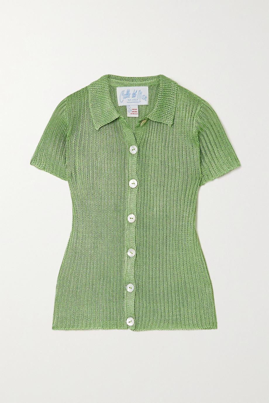 Calle Del Mar Ribbed-knit shirt
