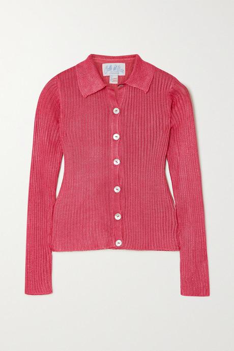 Pink Ribbed-knit shirt | Calle Del Mar qulOMl