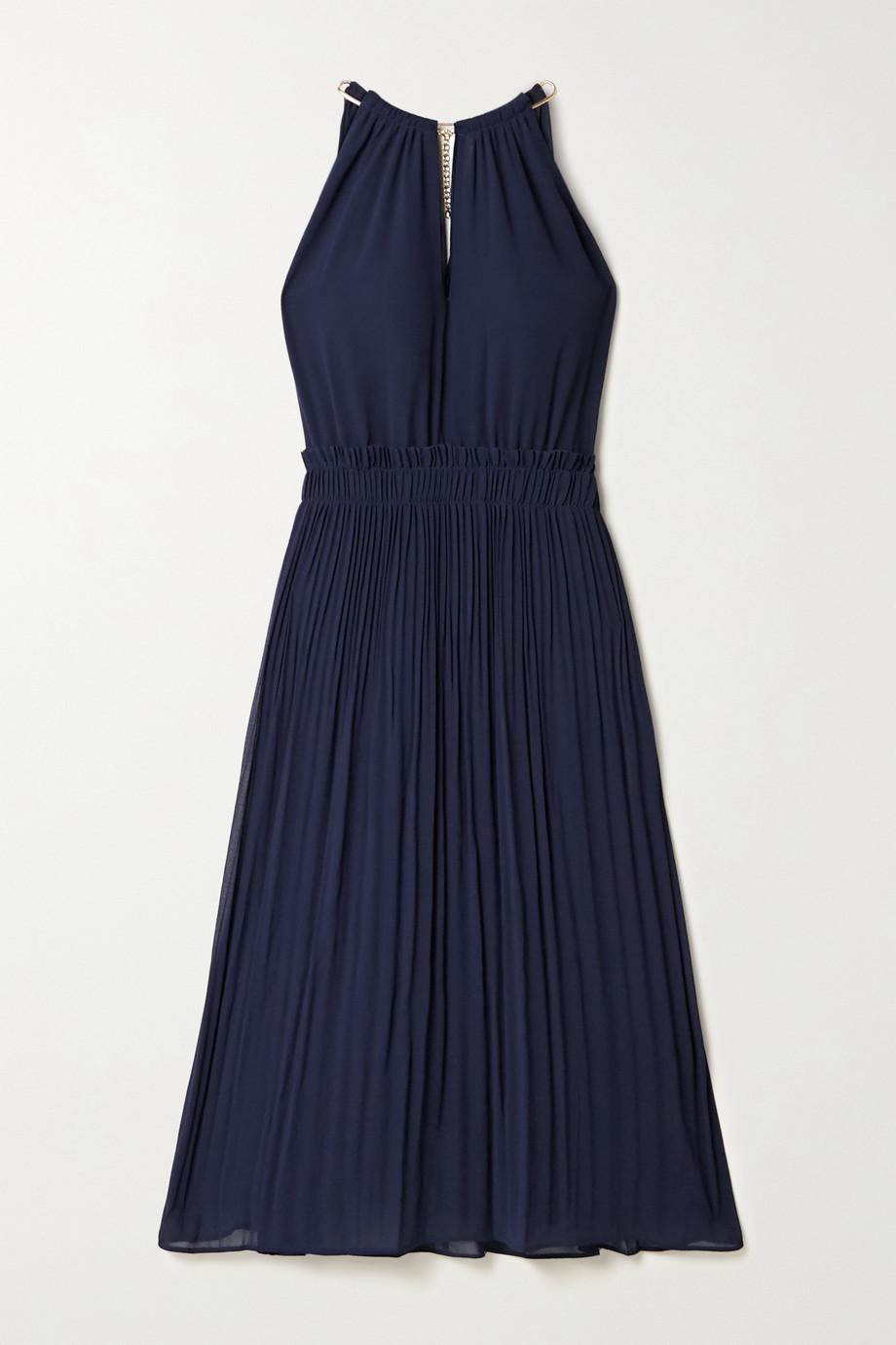 MICHAEL Michael Kors Hayden chain-embellished pleated georgette dress