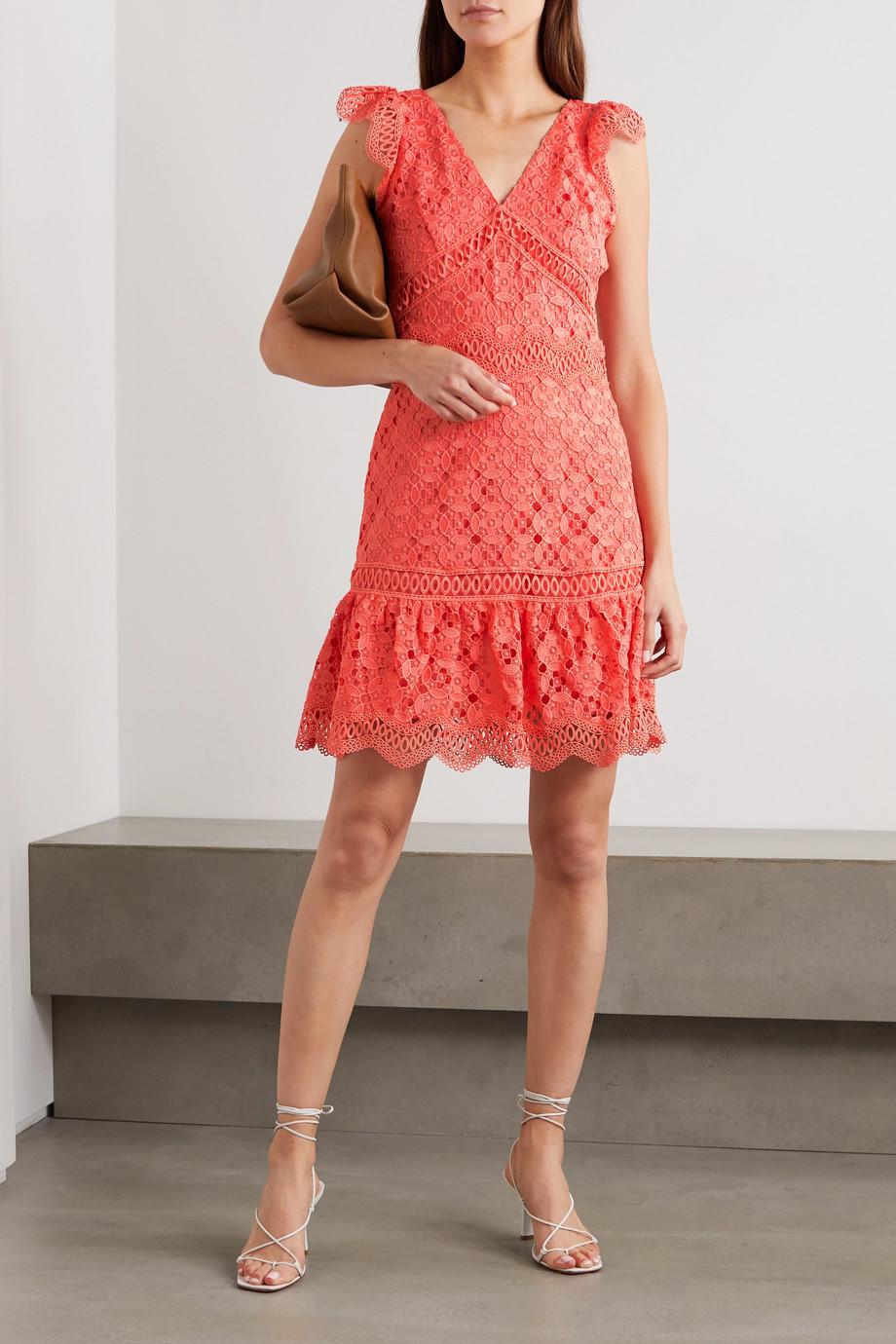 MICHAEL Michael Kors Ruffled crocheted lace mini dress