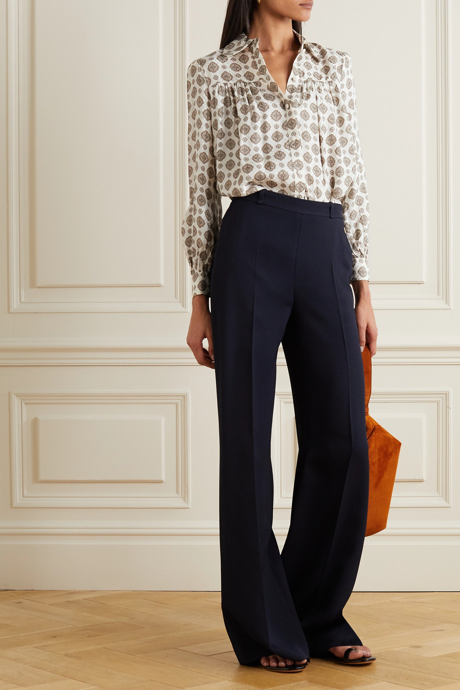 MICHAEL Michael Kors Medallion silk-blend jacquard blouse