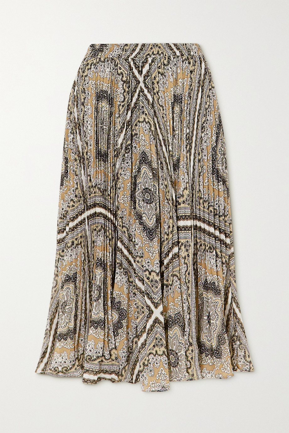 MICHAEL Michael Kors Medallion pleated printed chiffon midi skirt