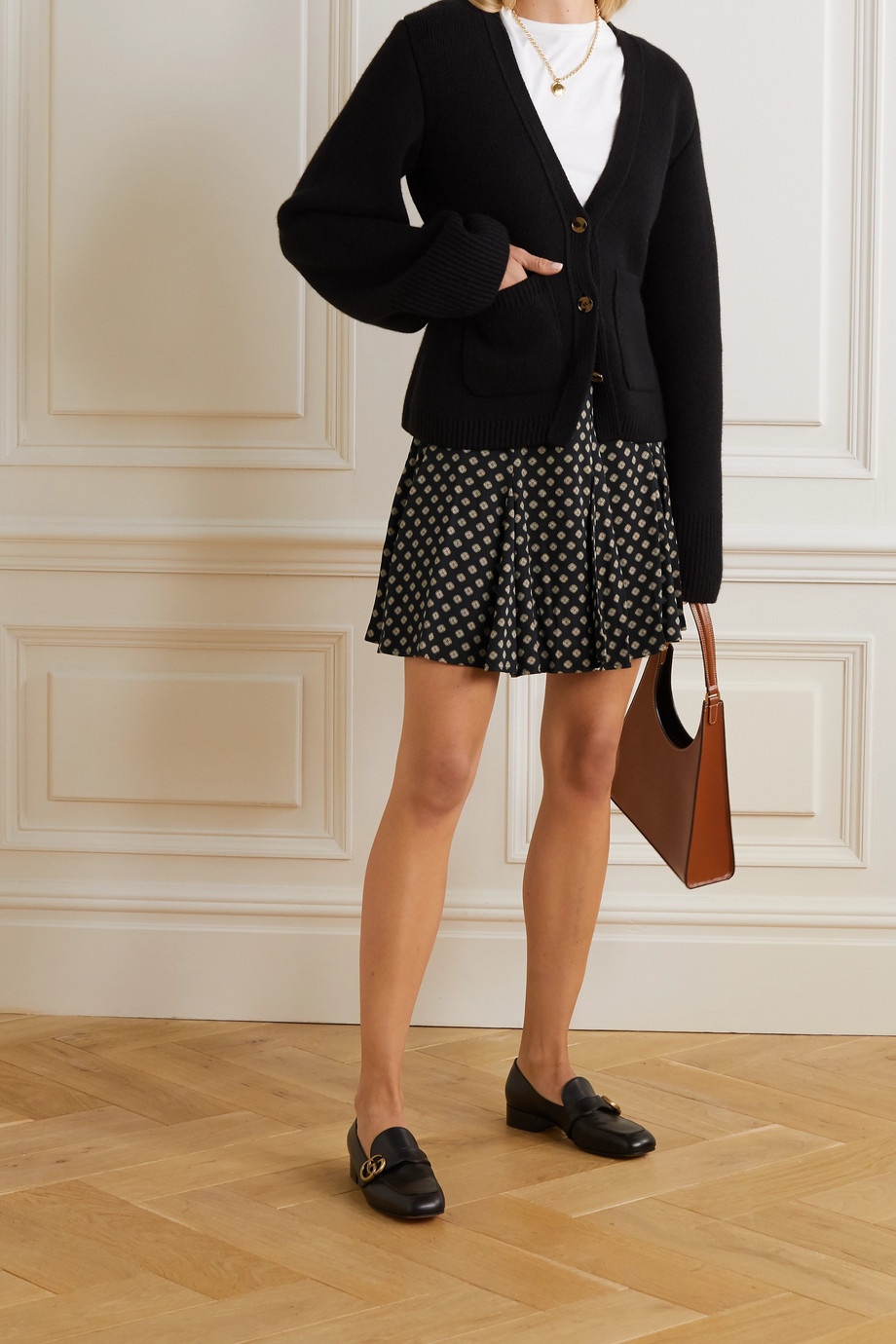 MICHAEL Michael Kors Printed twill mini skirt