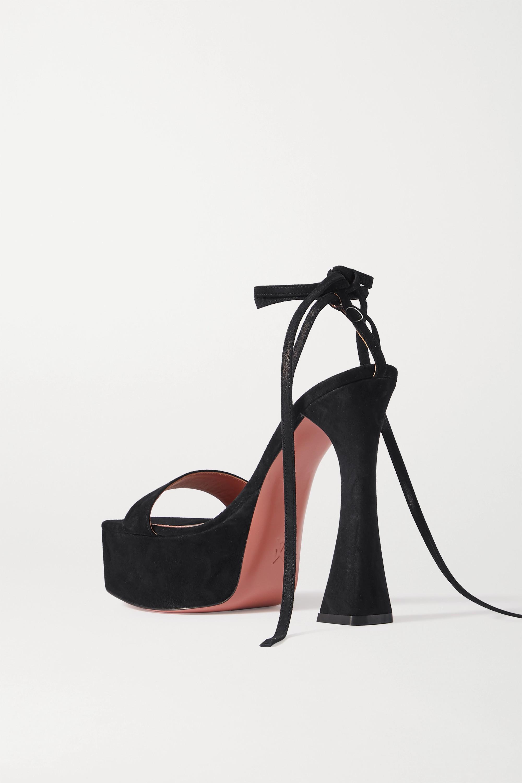 Amina Muaddi Vita suede platform sandals