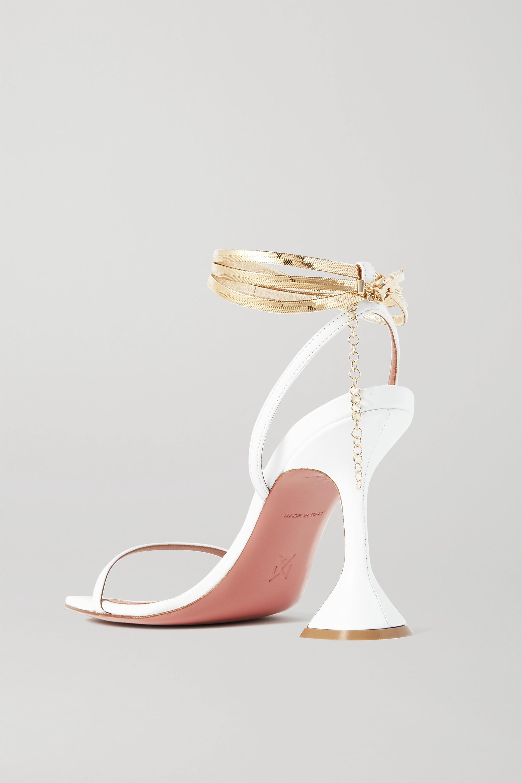 Amina Muaddi Henson chain-embellished leather sandals