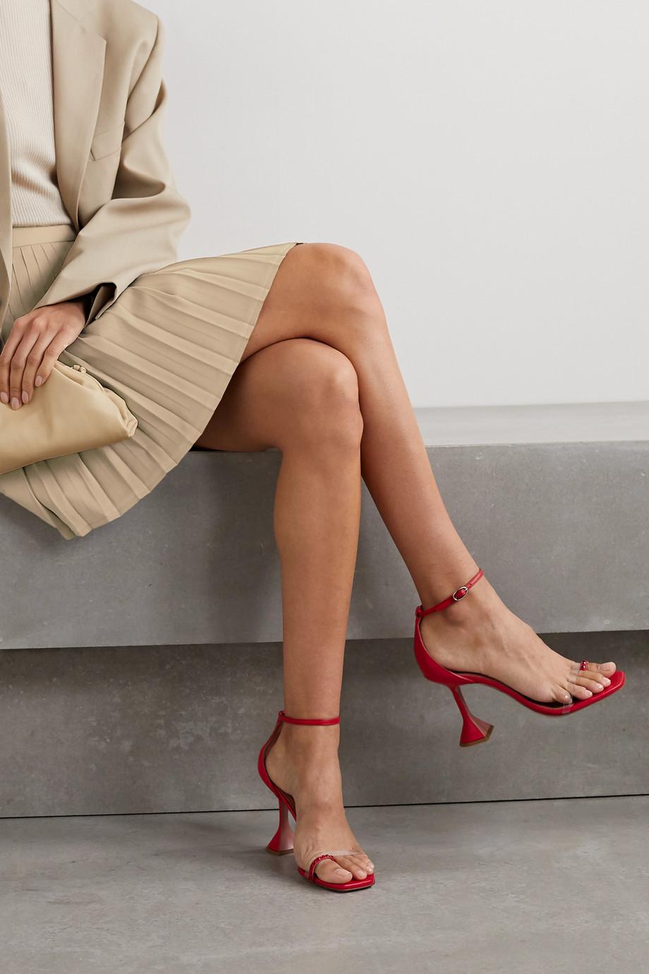 Amina Muaddi Oya crystal-embellished leather and PVC sandals