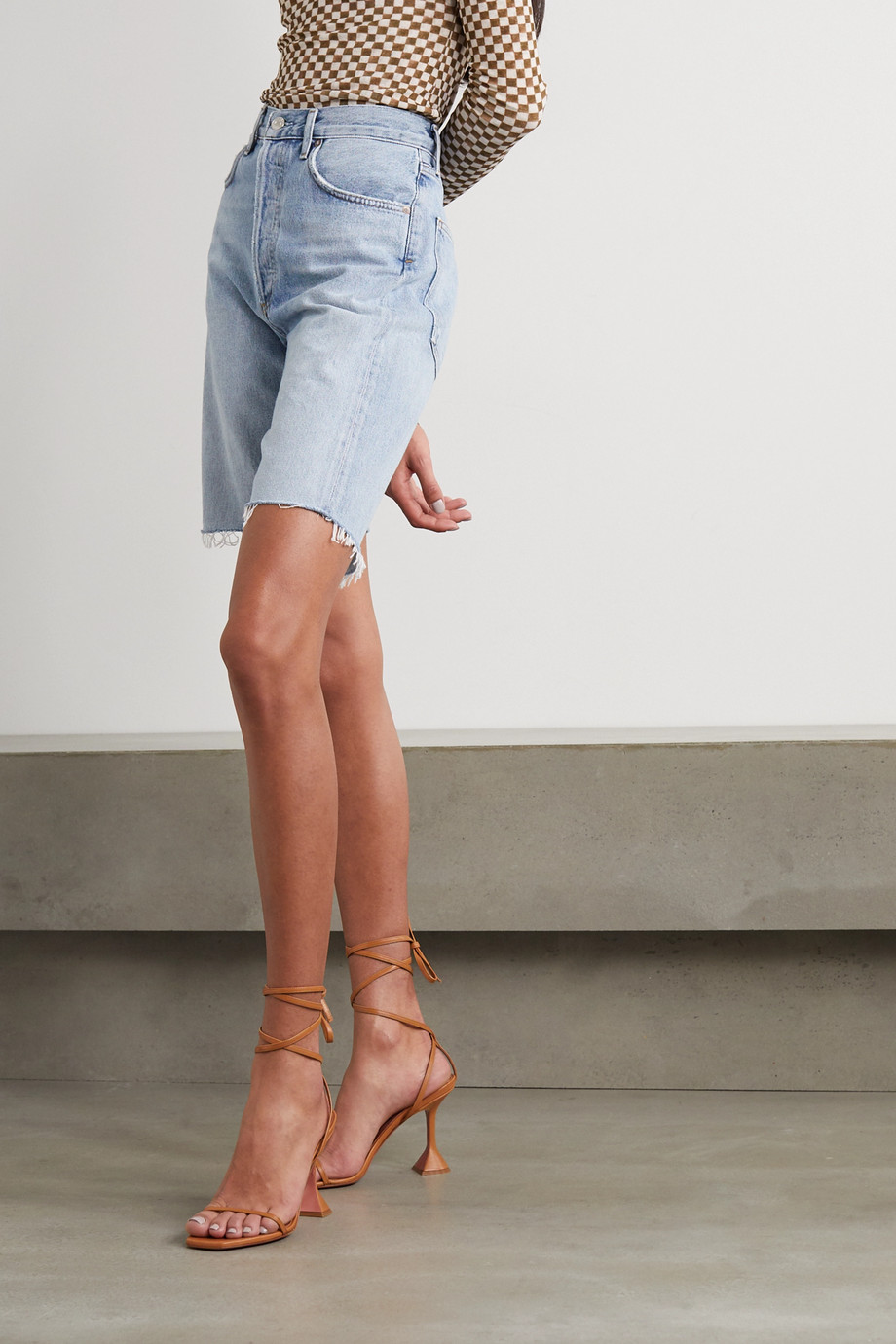 Amina Muaddi Vita leather sandals