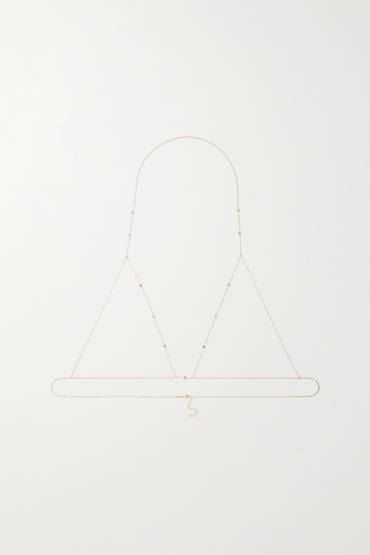 Jacquie Aiche 14-karat gold diamond body chain
