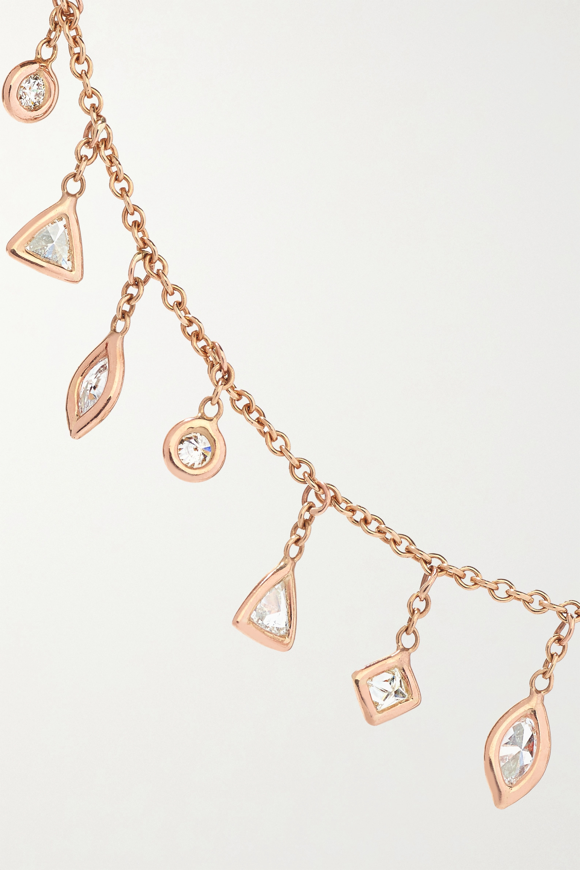 Jacquie Aiche 14-karat rose gold diamond necklace