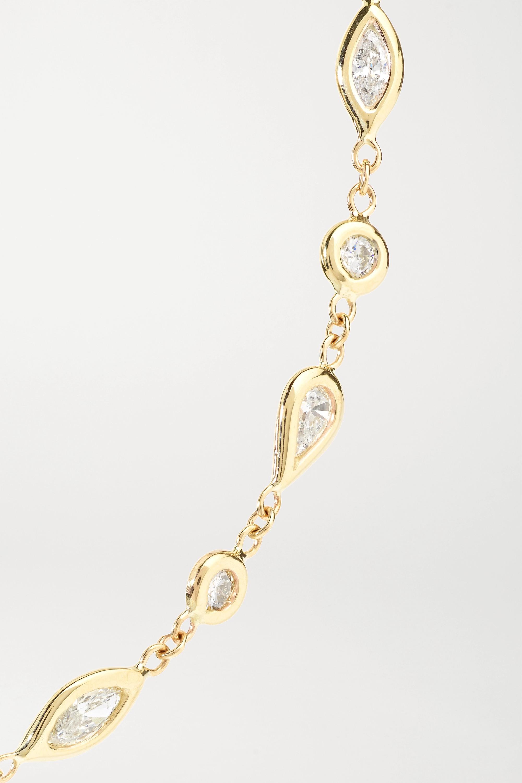 Jacquie Aiche Kette aus 14 Karat Gold mit Diamanten
