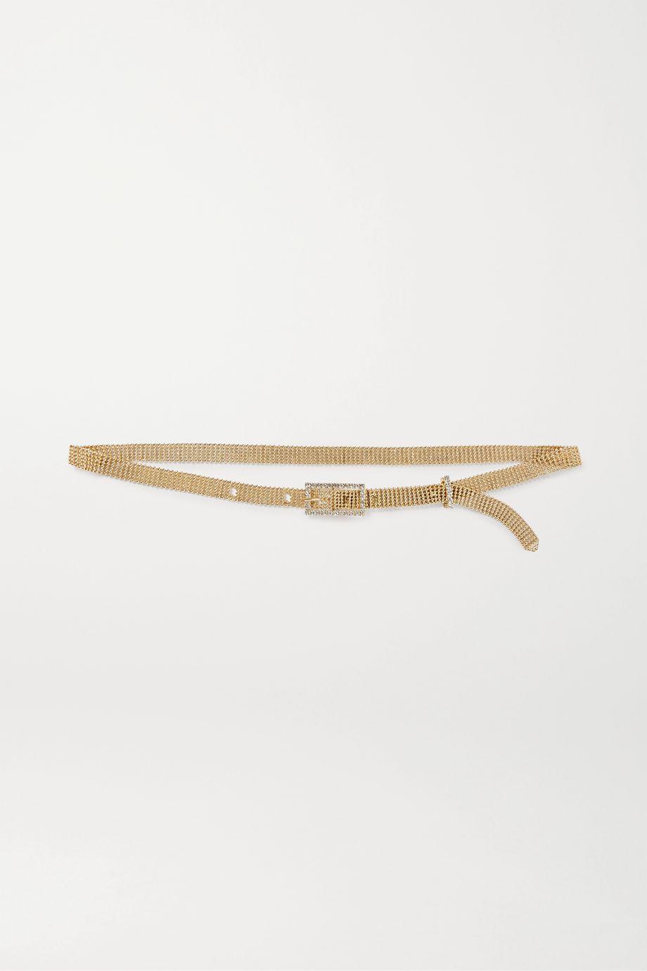 Rosantica Vanessa crystal-embellished gold-tone belt