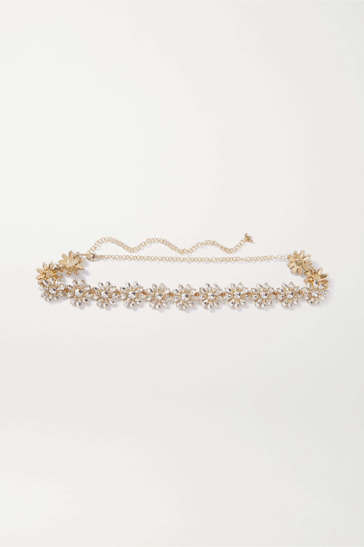 Rosantica Utopia crystal-embellished gold-tone belt