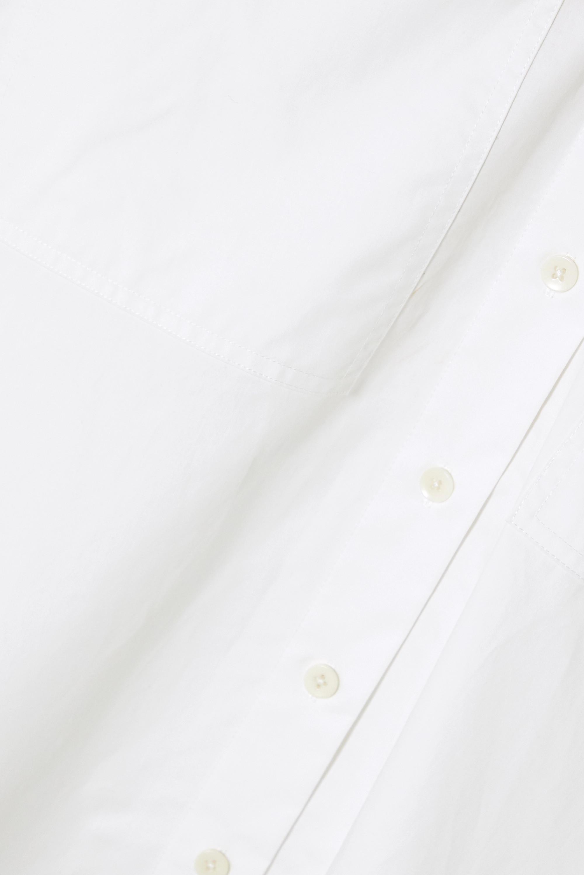Tibi Chemise en popeline de coton biologique à fermeture à glissière