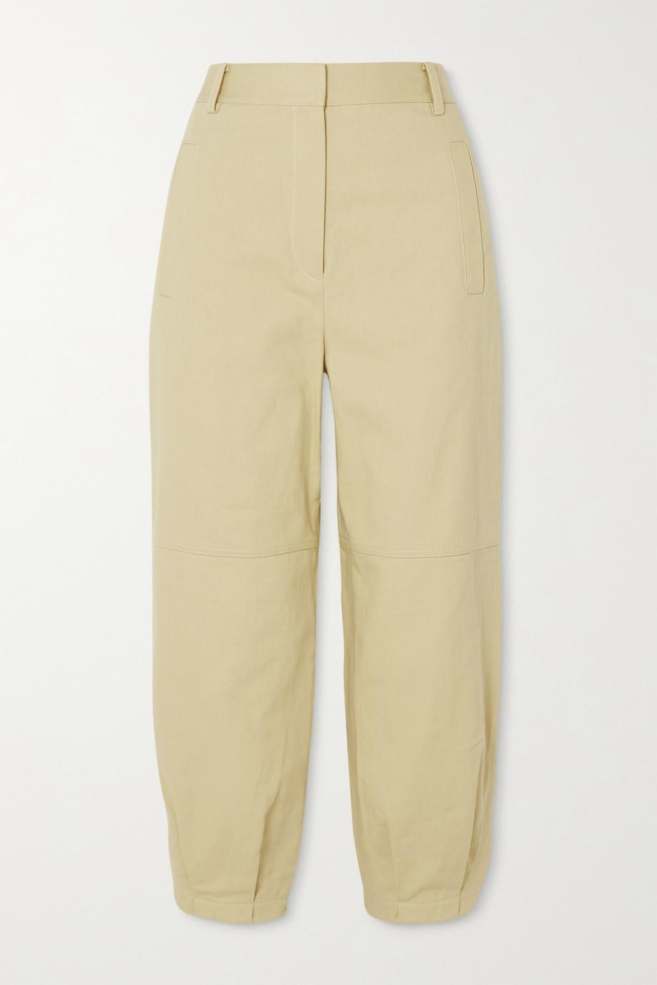 Tibi 纯棉斜纹布锥形裤